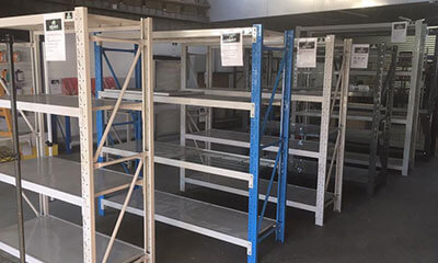 Warehouse stores shelving